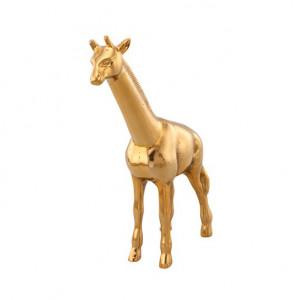 Decoratiune aurie din otel 44 cm Giraffe Van Roon Living