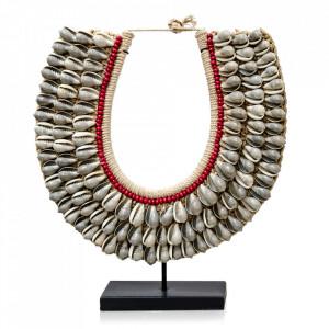 Decoratiune crem din scoici 35 cm Necklace Versmissen