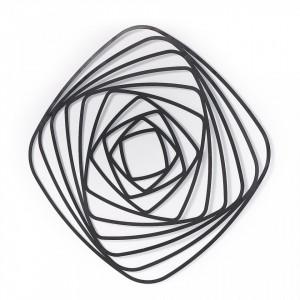 Decoratiune de perete din metal negru 80x80 cm Univers La Forma