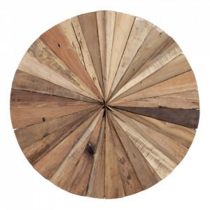 Decoratiune de perete maro din lemn de tec 60 cm Almonto House Nordic