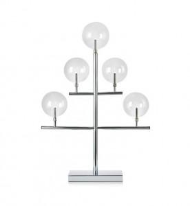 Decoratiune luminoasa din metal si sticla cu 5 becuri Maestro Chrome Markslojd