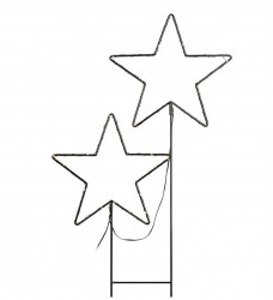 Decoratiune luminoasa LED neagra din metal pentru exterior Mystic Star Double Markslojd