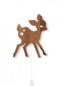 Decoratiune luminoasa maro din placaj pentru perete My Deer Smoked Oak Ferm Living