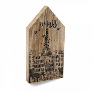 Decoratiune luminoasa maro/neagra din lemn Paris Light Versa Home