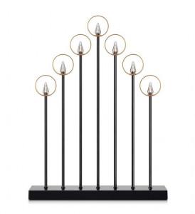 Decoratiune luminoasa neagra din metal cu 7 becuri Gabriel Markslojd