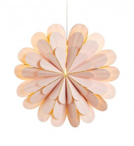 Decoratiune luminoasa suspendabila roz din hartie si plastic Marigold Markslojd