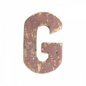Decoratiune maro din lemn 18 cm G Raw Materials