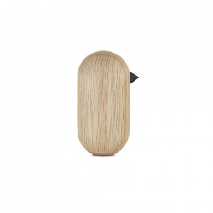 Decoratiune maro din lemn de stejar 10 cm Little Bird Normann Copenhagen