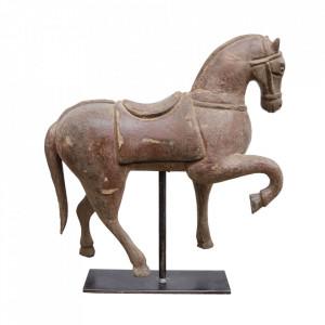 Decoratiune maro din lemn de ulm 52 cm Horse Versmissen