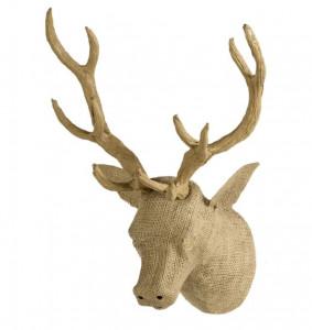 Decoratiune maro din panza de iuta pentru perete 40x50 cm Deer Quax