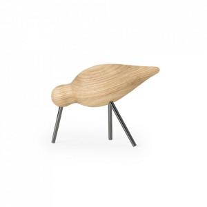 Decoratiune maro/neagra din lemn de frasin si otel 11 cm Shorebird Normann Copenhagen
