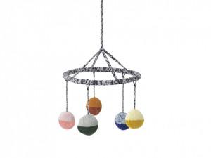 Decoratiune multicolora suspendabila pentru copii din bumbac Ball Mobile Ferm Living