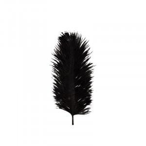 Decoratiune neagra din pana de strut pentru perete 15 cm Soili Madam Stoltz
