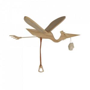 Decoratiune suspendabila maro din lemn Pelican Quax