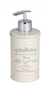 Dispenser crem/argintiu din otel 350 ml Home Painted Soap Wenko