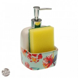 Dispenser multicolor din ceramica 10,5x17,8 cm Paradis Sponge Versa Home
