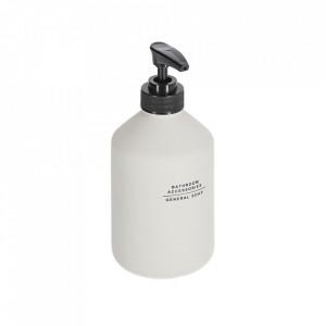 Dispenser sapun lichid alb/negru din polipropilena si polirasina 8 cm Lali Kave Home