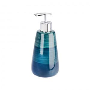 Dispenser sapun lichid albastru petrol din ceramica 360 ml Pottery Wenko