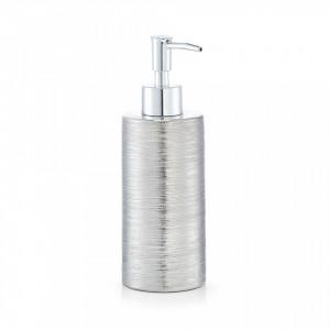 Dispenser sapun lichid argintiu din ceramica 330 ml Brushed Stoneware Zeller