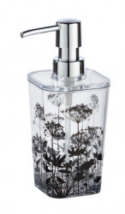 Dispenser transparent/negru din polistiren 330 ml Botanic Soap Wenko