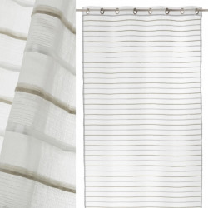 Draperie alba/gri din poliester 140x260 cm Quiet Unimasa