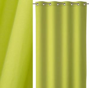 Draperie verde din bumbac si poliester 140x260 cm Loving Colors Teresa Unimasa