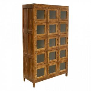 Dulap maro din lemn de tec 184 cm Kotra Raw Materials