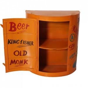Dulapior pentru perete portocaliu din metal Drinks Sit Moebel