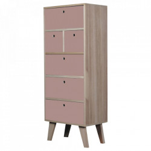 Dulapior roz/maro din lemn Boreal Opjet Paris