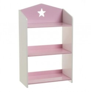 Etajera alb/roz pentru copii din MDF Josephe Unimasa