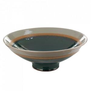 Farfurie adanca gri din ceramica 34 cm Layers Pols Potten