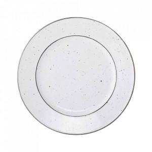 Farfurie alba din ceramica 25 cm Emily Bloomingville
