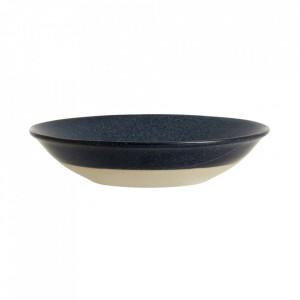 Farfurie albastra din ceramica 22,5 cm Grainy Soup Nordal