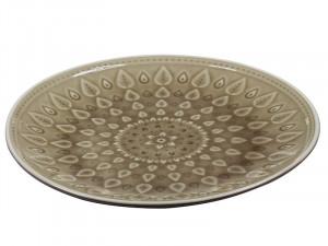 Farfurie din portelan 26 cm Brown Natural Santiago Pons