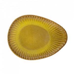Farfurie galbena din ceramica 20x26,5 cm Cala Bloomingville