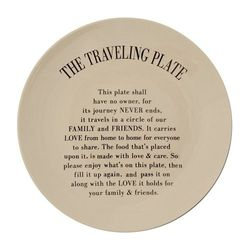 Farfurie gri din ceramica 25 cm The Travelling Plate Bloomingville