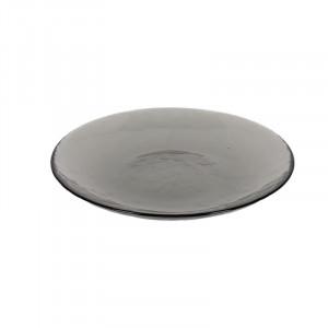 Farfurie gri inchis din sticla pentru desert 20,8 cm Syna Kave Home
