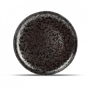 Farfurie intinsa neagra din portelan 21 cm Oxido Fine2Dine