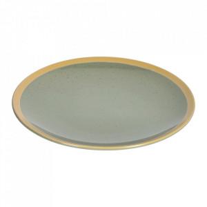 Farfurie intinsa verde din ceramica 28 cm Tilla Kave Home