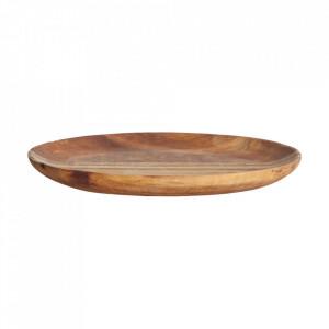 Farfurie maro din lemn de salcam 11x15 cm Nature House Doctor