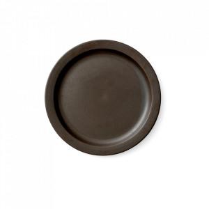 Farfurie maro din portelan 27,5 cm Norm Dark Glazed Menu