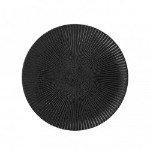 Farfurie neagra din ceramica 18 cm Bloomingville