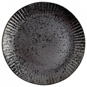 Farfurie neagra din ceramica 27,5 cm Ansh Madam Stoltz