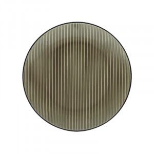 Farfurie pentru desert grej din ceramica 20 cm Kris Avi LifeStyle Home Collection