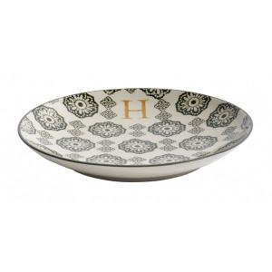 Farfurie pentru desert multicolora din ceramica 20 cm H Letter Nordal
