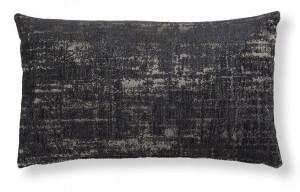 Fata de perna gri inchis din textil 30x50 cm Cuzco Combination Dark Grey La Forma