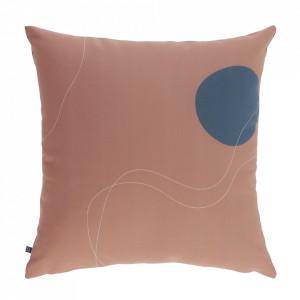 Fata de perna pentru exterior roz din poliester 45x45 cm Abish Kave Home