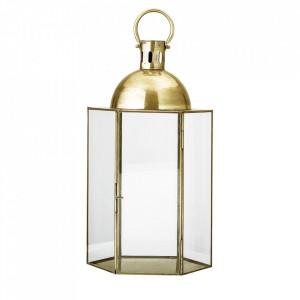 Felinar auriu din sticla si fier pentru exterior 52 cm Aster Bloomingville