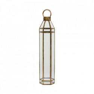 Felinar auriu/transparent din fier si sticla 66 cm Alana LifeStyle Home Collection