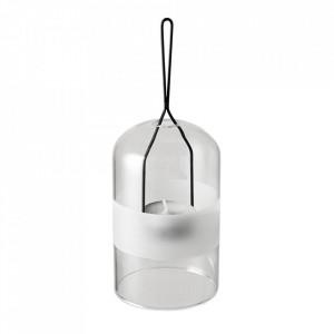 Felinar transparent din sticla si metal 18 cm Spring Bloomingville